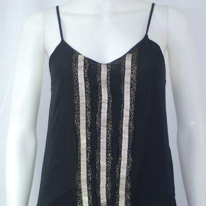 NWT Black & Gold Beaded Dress Sz S